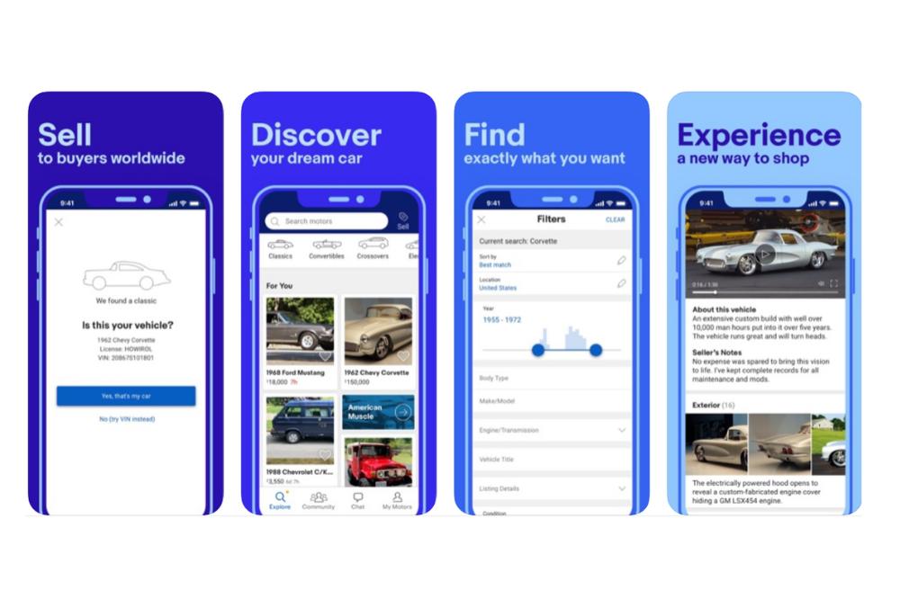 flutter app examples - ebay motors
