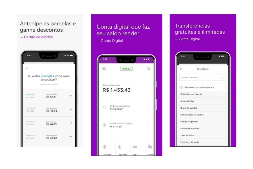flutter app examples - nubank